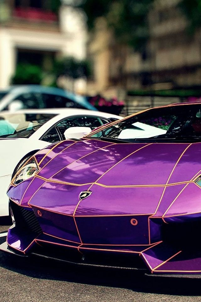 Purple Lamborghini Aventador Lp 700 4 See More Sports Car Pics At
