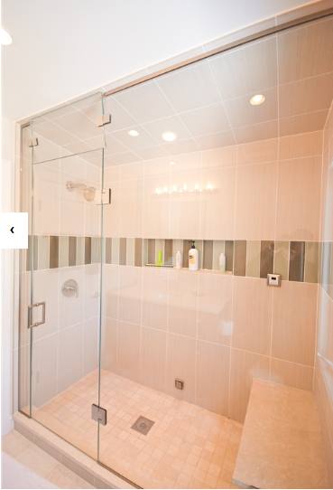 Shower That Was Built In A Hall Bathroom Remodel This Remodel Was