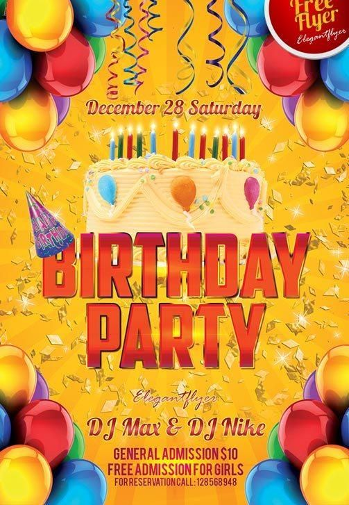 Beautiful  Free Birthday Flyers Templates  Templates