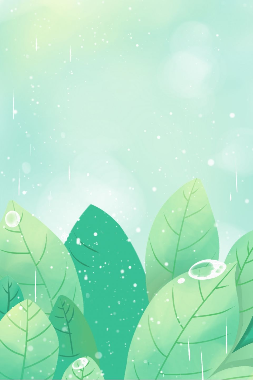 Cartoon Green Plant Free Illustration Creative Background Cute Wallpaper Backgrounds Kawaii Wallpaper