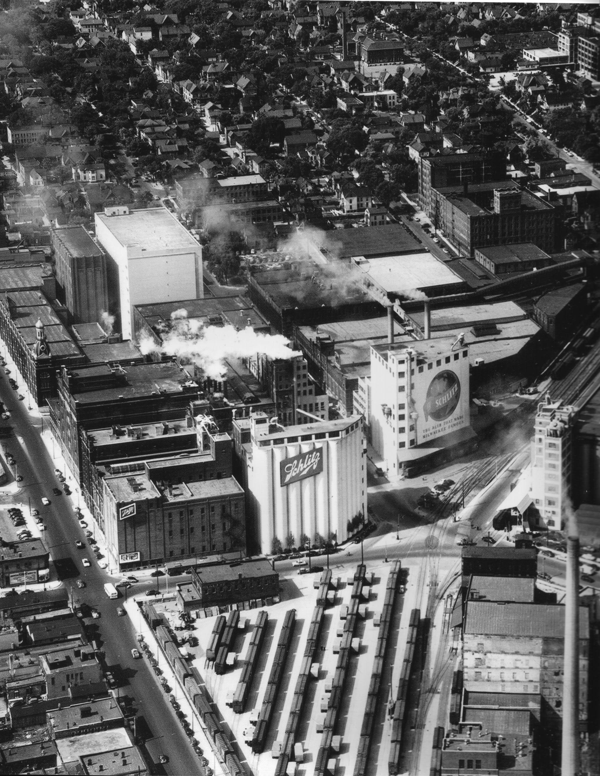 Map Of Oregon Breweries%0A Schlitz train yard next to their brewery in Milwaukee  Wisconsin
