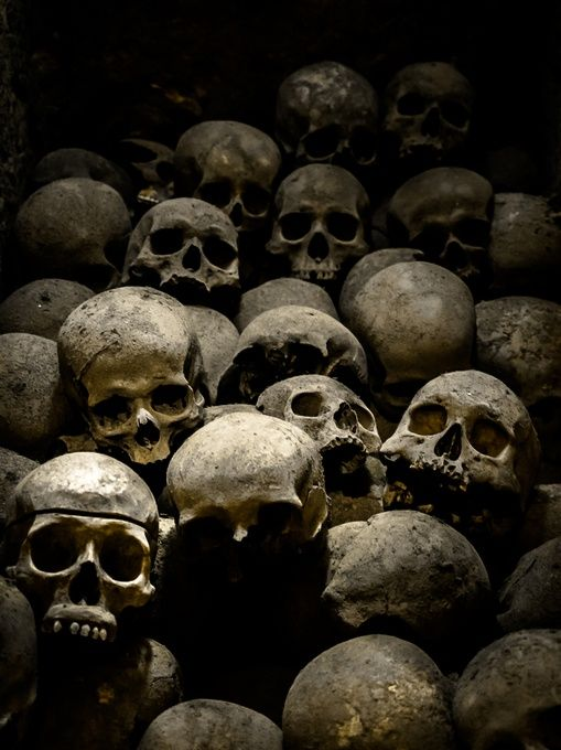 Thousands of skeletons lie within the catacombs of the Convento De San Francisco, Lima, #Peru by Cashman