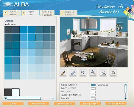 Alba un programa donde puedes probar combinaciones de - Simulador de salones ...