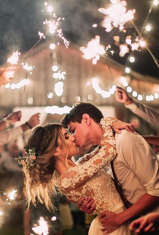 Wedding or event sparklers are longer than usual ones. When your wedding day comes, ask you photographer to do a couple of shoots. #wedding #bride #weddingphoto #sparkleweddingfpotos