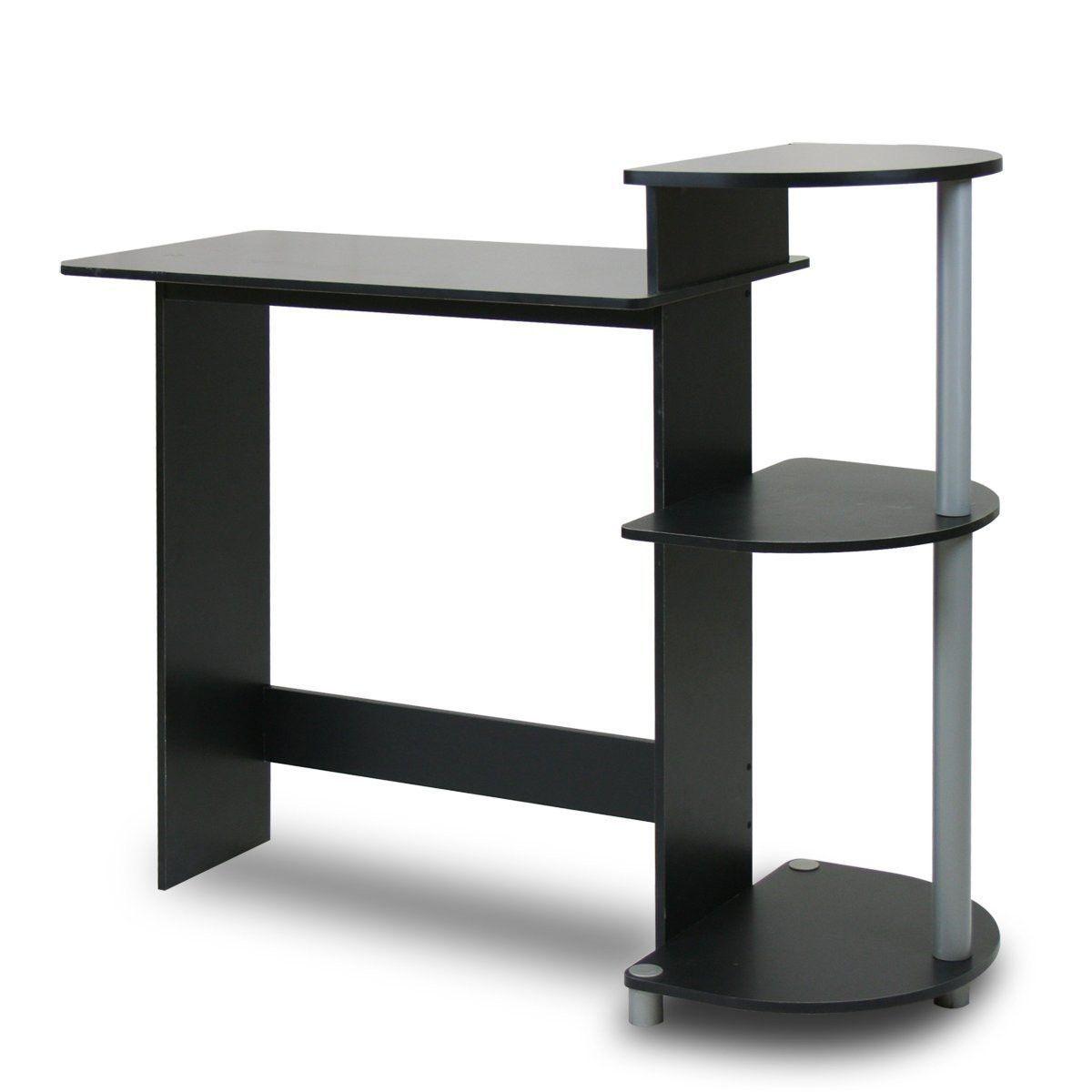 contemporary computer desk in black grey finish birthday list rh pinterest com