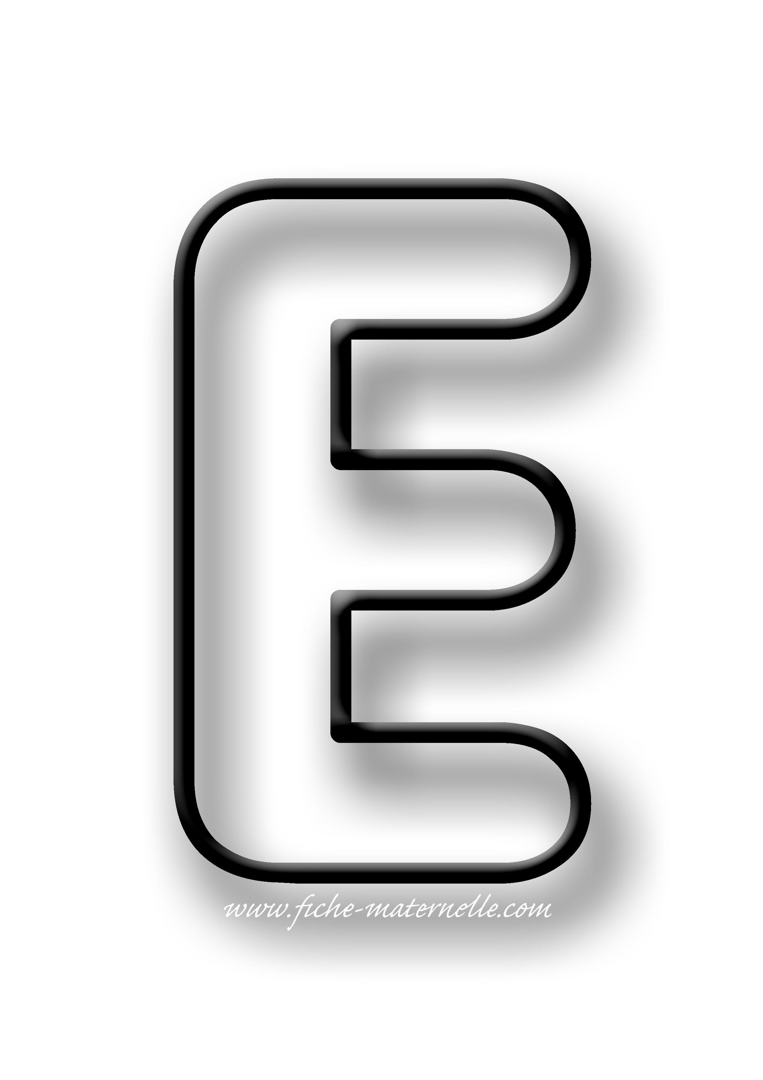lettre e Coloriage de la lettre E | ecritufe | Pinterest lettre e