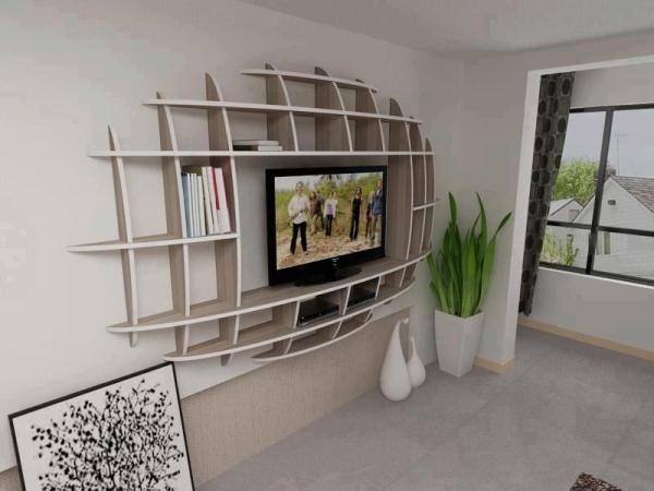 Modern Shelf Design Idea - looks like a football shape, would be ...