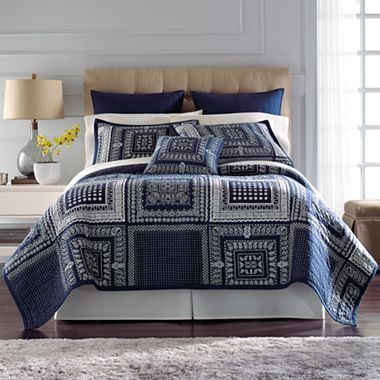 Jcp Everyday Asheville Quilt Accessories Jcpenney Blue Bedding Blue Quilts Bed
