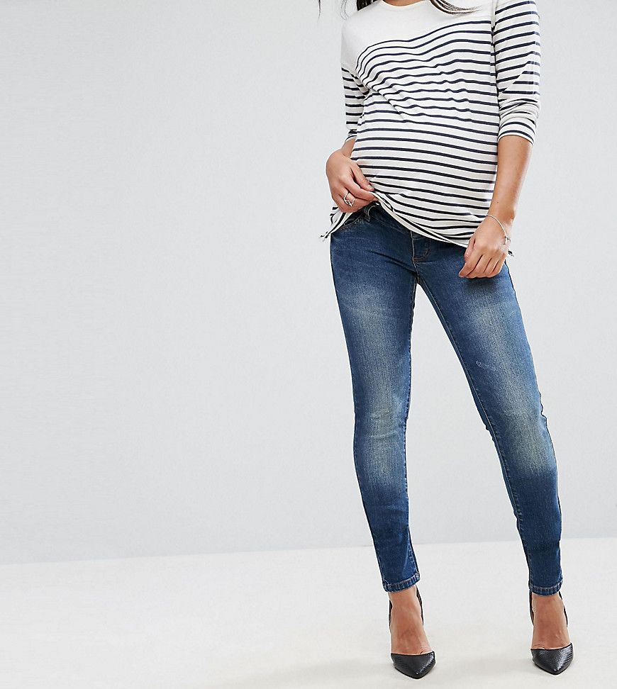 Sale Choice Buy Cheap Brand New Unisex Mamalicious Under The Bump Skinny Jeans - Blue Mama Licious Discount Inexpensive Free Shipping Footlocker Cheap Price pww9v