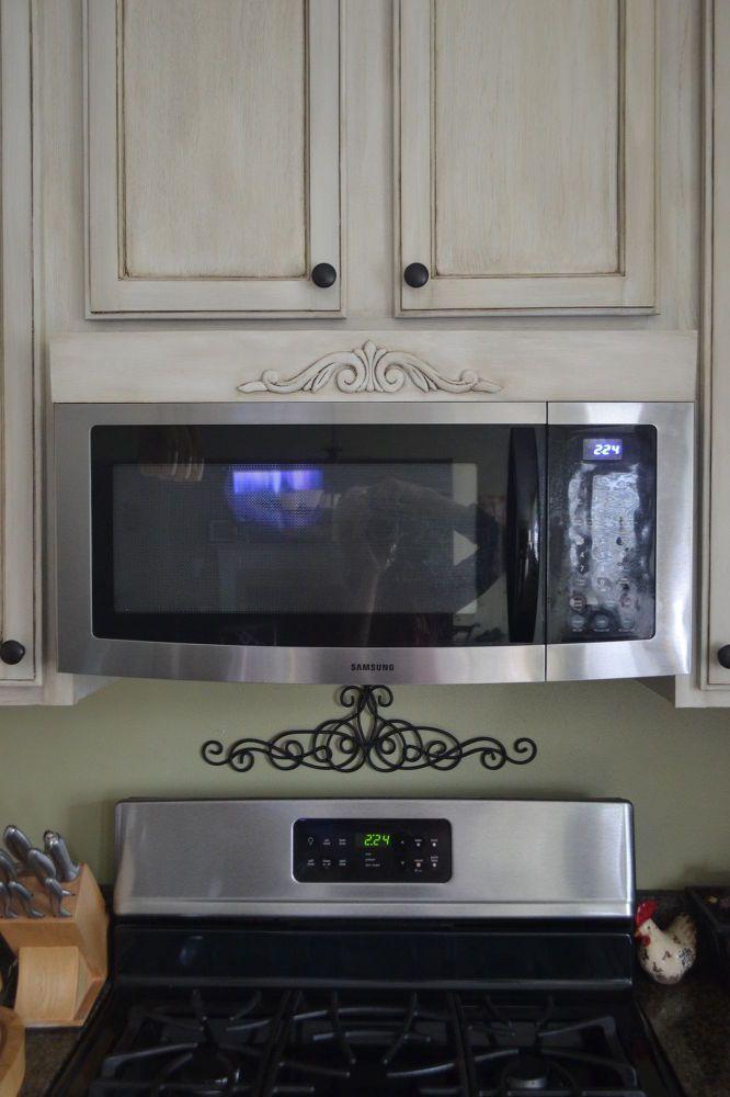 easy diy tuscan over the range microwave hood vent update rh pinterest com