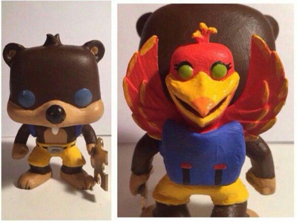 Custom Banjo And Kazooie Figures Funko Pop Figures