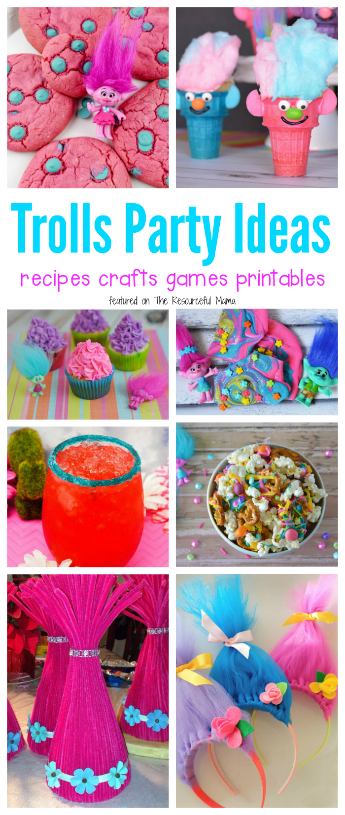 Lots of fun trolls party ideas including recipes crafts games and printables for your movie night or birthday also filled pinterest rh