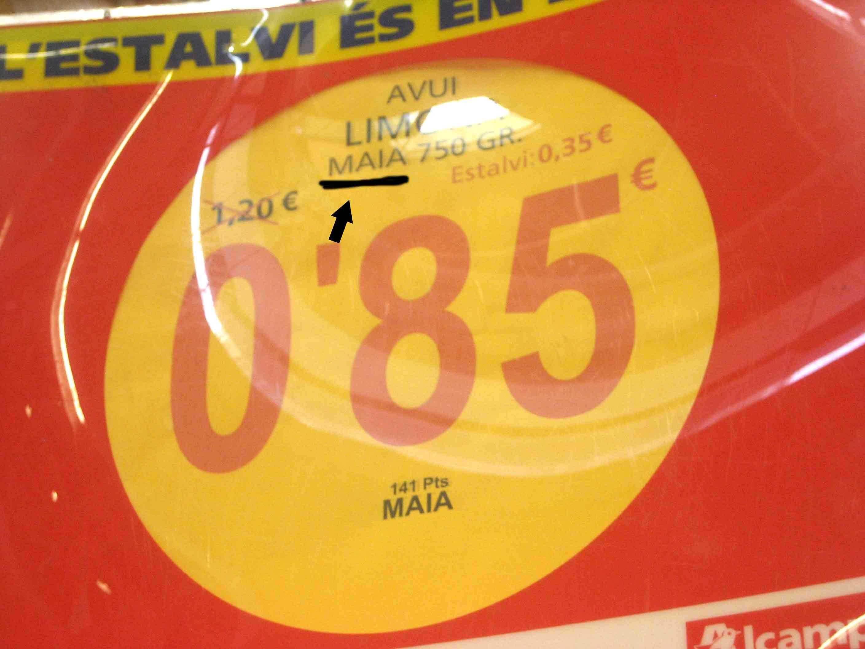 Si anunciaran miel, igual, Maia como abeja ilustre colaba, pero se trata de limones. Son las cosas de Alcampo! http://hartadealcampo.wordpress.com/2012/09/07/mas-confusion/