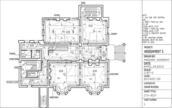 Reflected Ceiling Plan & Electrical Plan Drawing on Behance | l1 ...