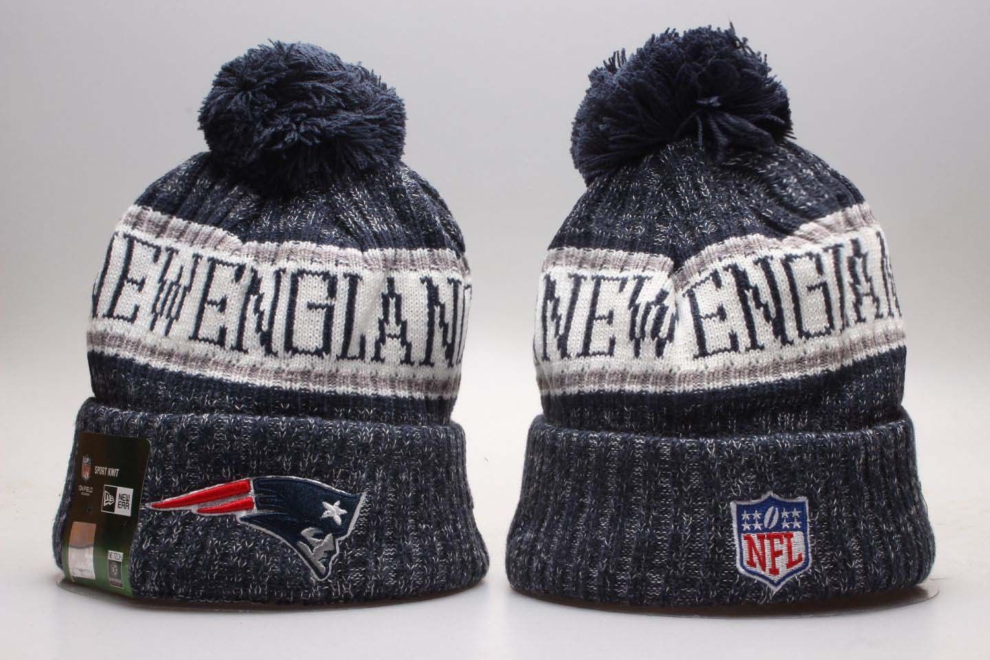 2018 New England Patriots New Era Knit Hat On Field Sideline Beanie Stocking Cap Dallas Cowboys Hats Oakland Raiders Beanie New England Patriots
