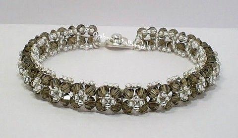 Swarovski Crystal Bracelets Smoky Quartz Bracelet Akcrystalbead
