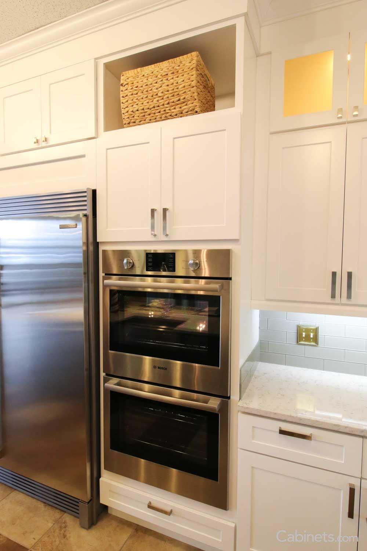shaker rta birch white for dad kitchen house ideas rh pinterest com