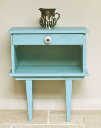 Chalk paint - this shop shows each Annie Sloan color on a piece of furniture!