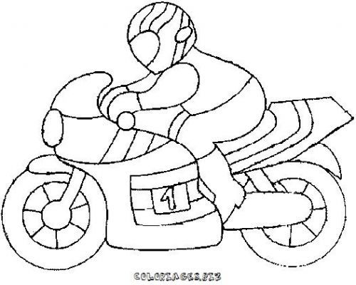 coloriage Coloriage moto gratuit - Transports | Coloriage moto, Coloriage garçon, Coloriage