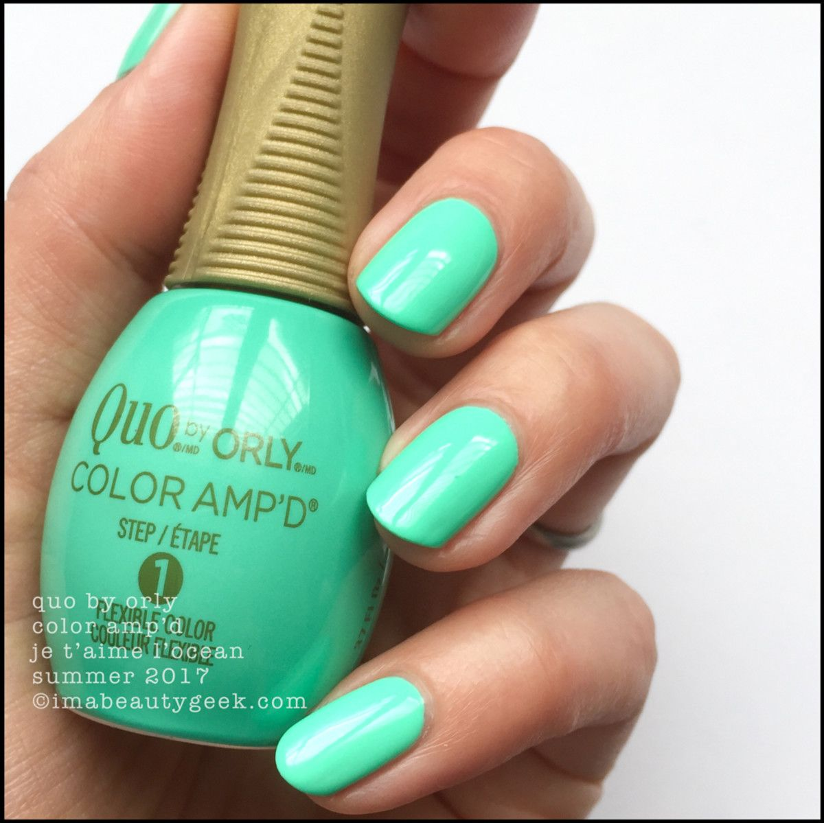 Quo by Orly Je T\'Aime L\'Ocean – Color Amp\'d 2017 | Nails | Pinterest