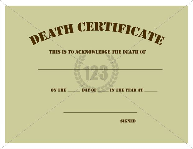 death certificate print out