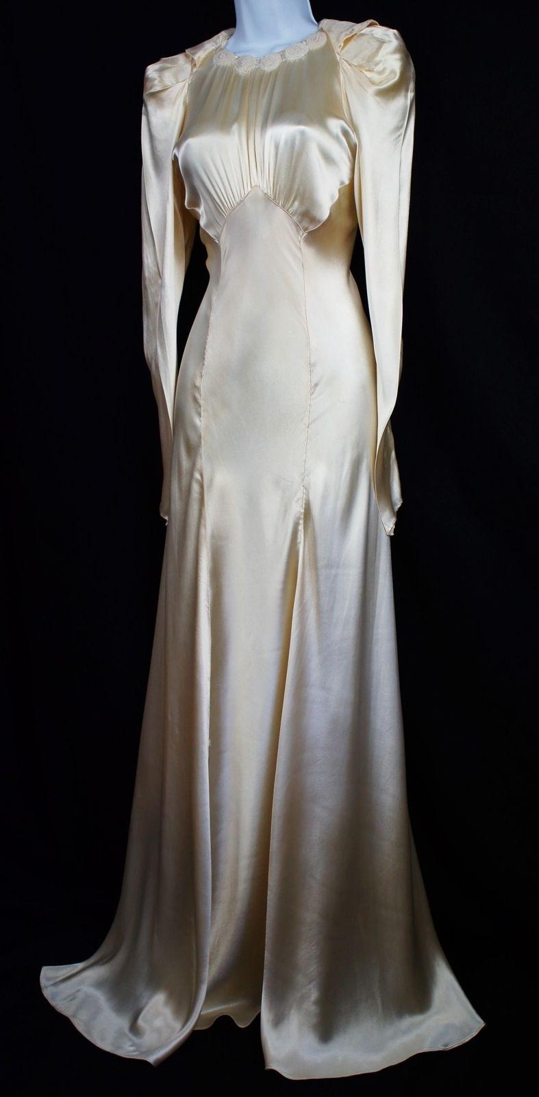 1930 wedding dress  Vintage s silk satin dress wedding ballgown goddess harlow