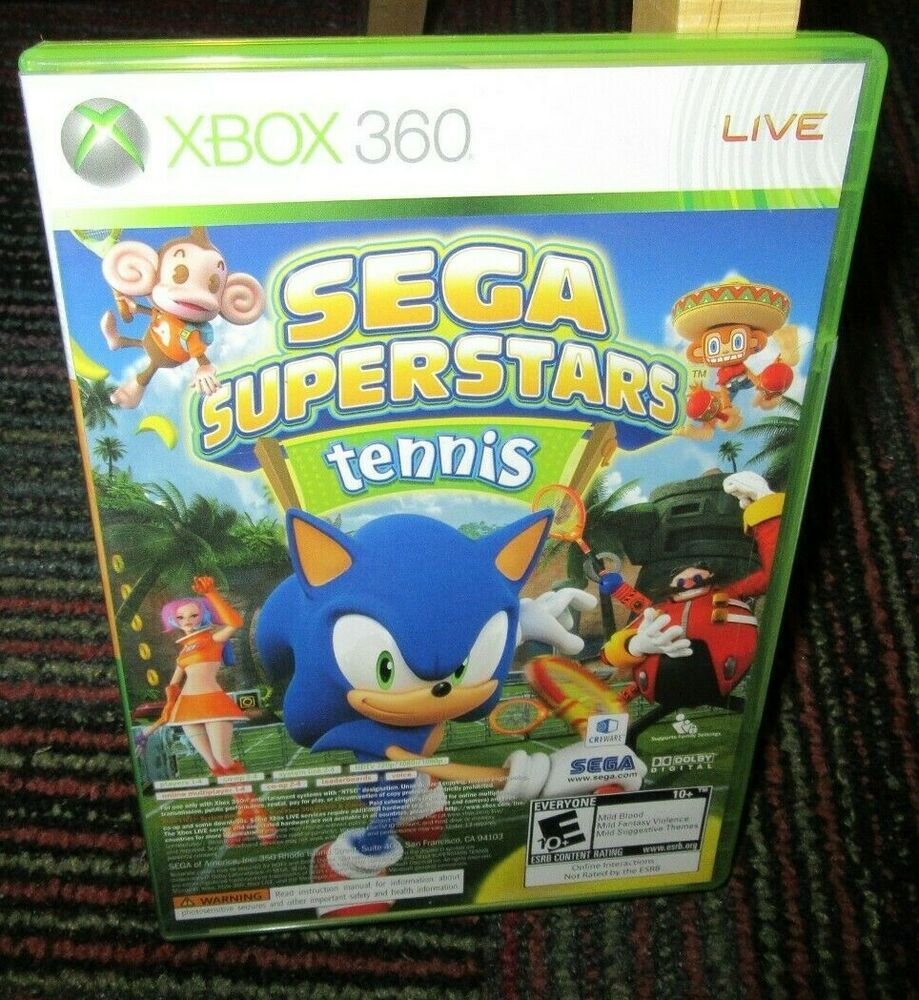 Sega Superstars Tennis Live Arcade Comp 2 Disc Game F Microsoft Xbox 360 New New Video Games Tennis Live Xbox