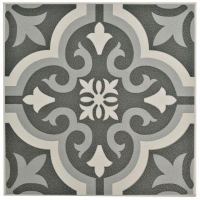Merola Tile Braga Classic In X In Ceramic Floor And - Encaustic tile home depot