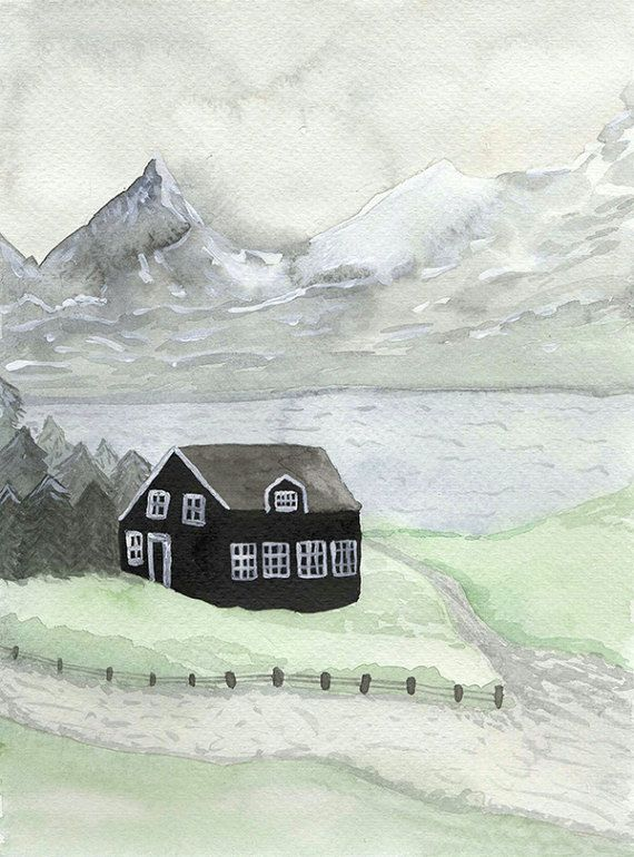 Iceland - Archival watercolor art print   Arte   Pinterest ...