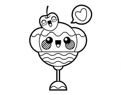 dibujos de helados kawaii para colorear - Buscar con Google | Kawaii ...