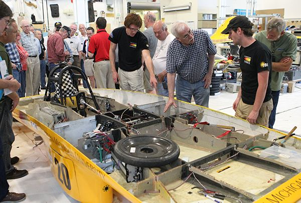 21May2014   The KAARC met at the WMU College of Engineering and toured the automotive facilities