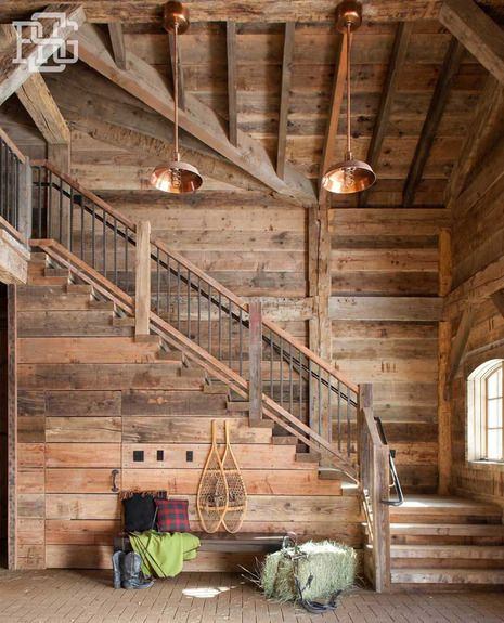 Portfolios   Robert G. Sinclair Architecture, Inc.   Dering Hall Rustic  Staircase,