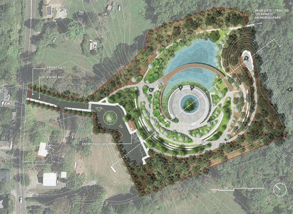 Gallery Of Winning Design Chosen For Sandy Hook Memorial 10 Front Landscaping Design Landscape Plans Landscape Design