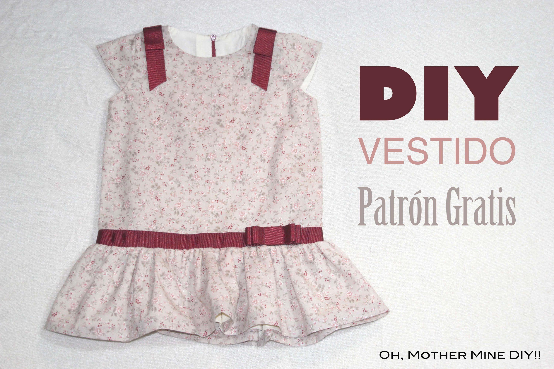 DIY Costura: Vestido de niña con cintura baja (patrón gratis ...