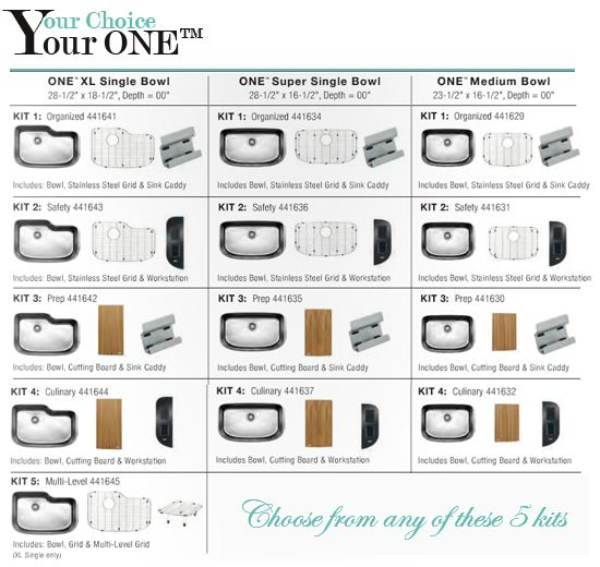 Blanco One Sink Accessory Kits Available - cutting boards, wire ...