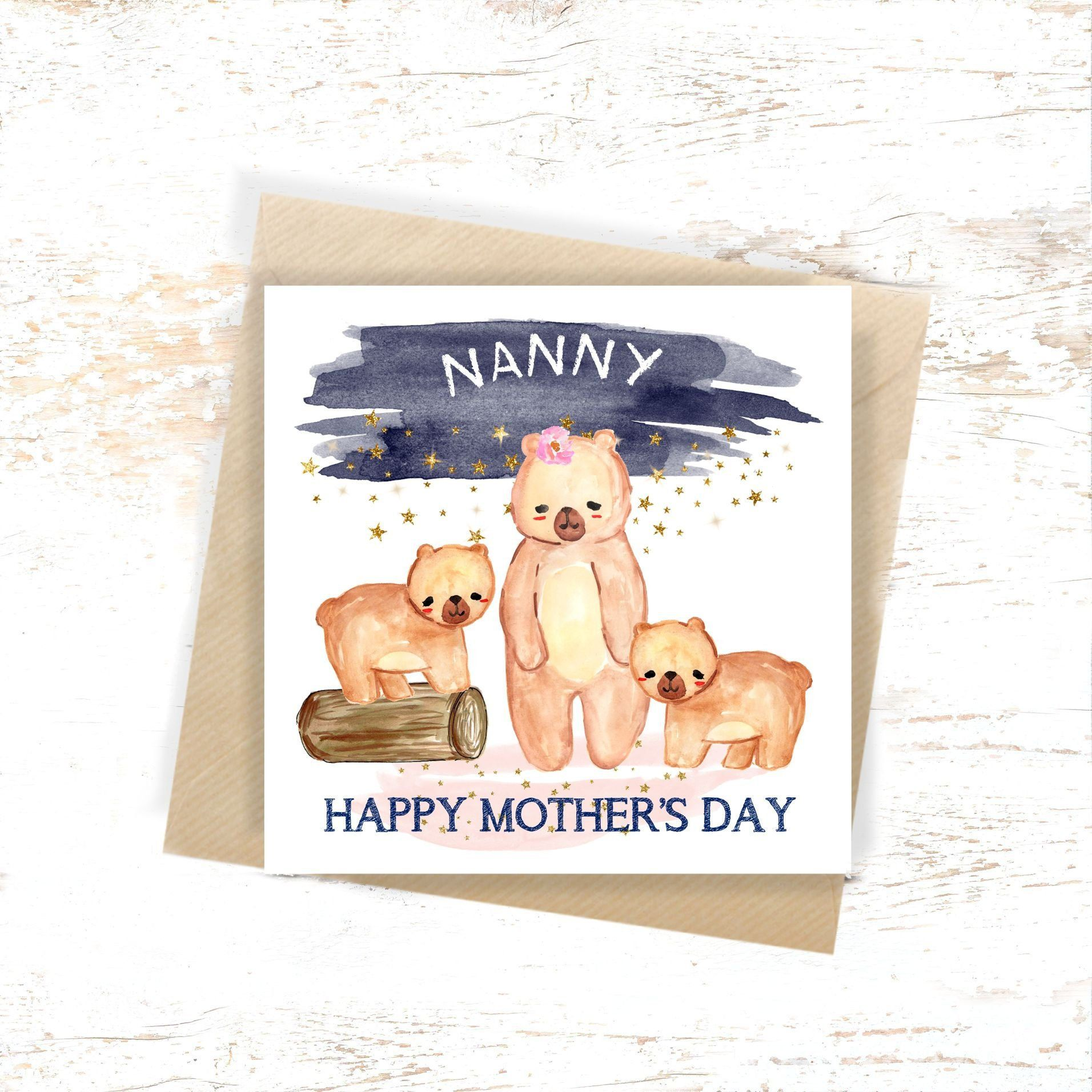Personalised Nanny Birthday Card Nanny Mother's Day Card