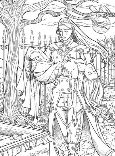 Vampires: A Vampire Coloring Book | Summer coloring pages ...