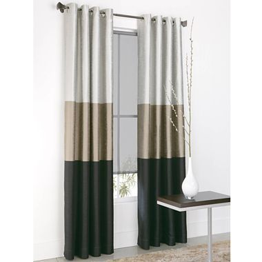 Studio Trio Grommet Top Curtain Panel Jcpenney Black Multi