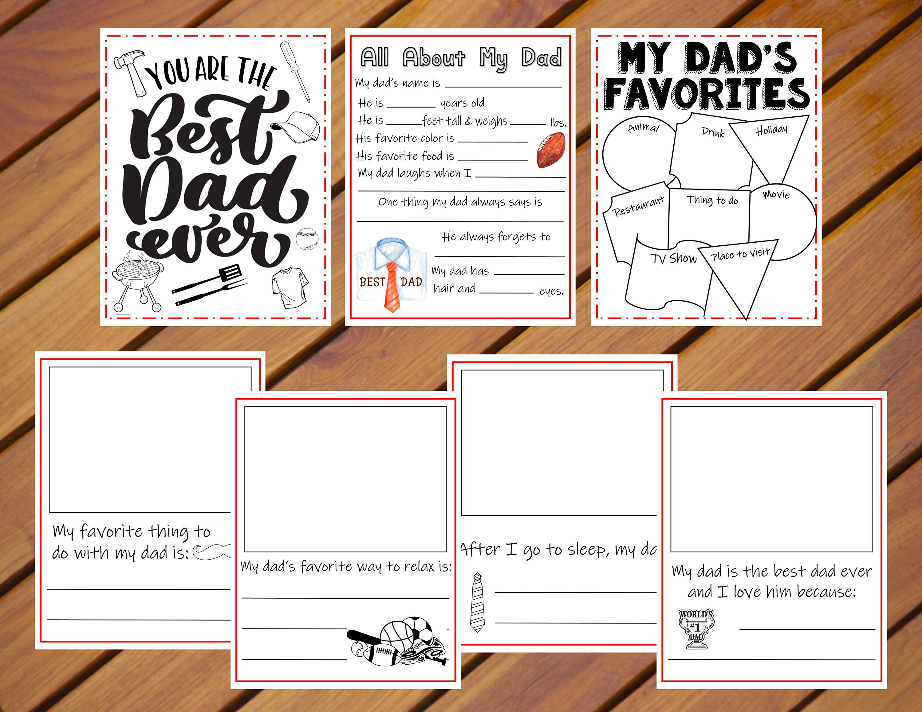 Father S Day Activity Packet Father S Day Worksheets