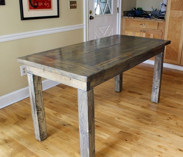 Farmhouse Table Easy One Month Long Project Small Farmhouse