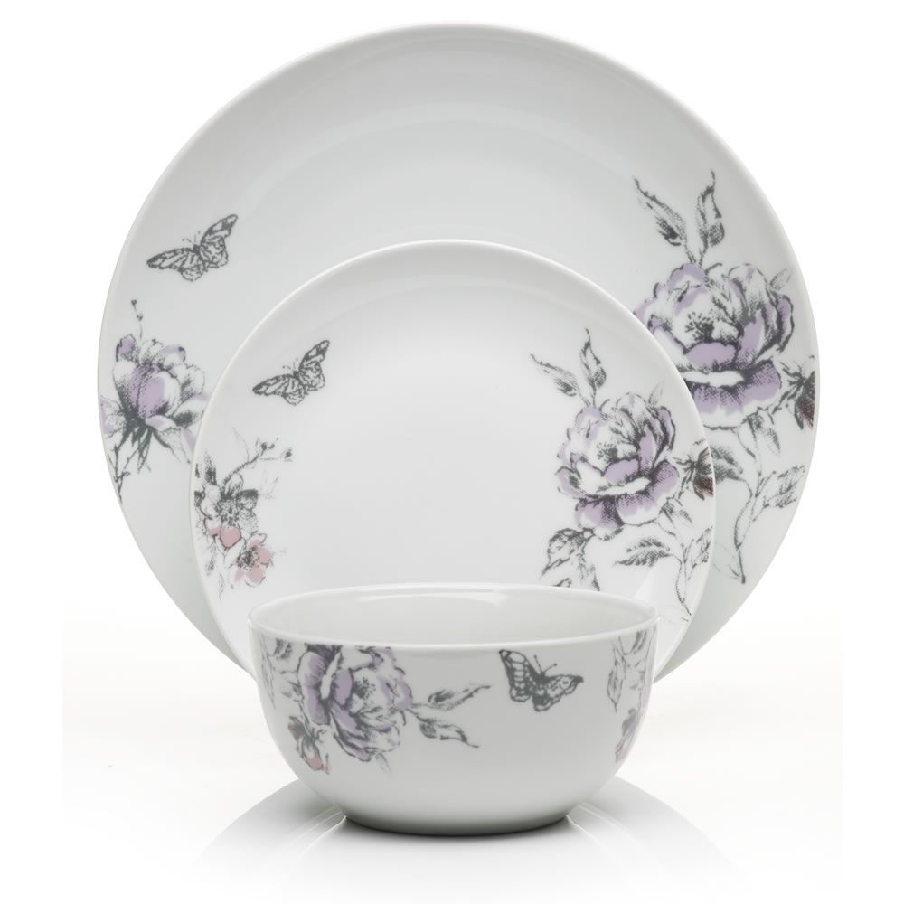 White apron sainsburys - Wilko Hourglass Dinner Set Porcelain Floral 12 Piece At Wilko Com Beautiful Set
