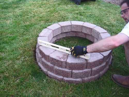 outdoor brick patio ideas 18 outdoor stone fire pits designs for backyard landscaping - Fire Pit Design Ideas