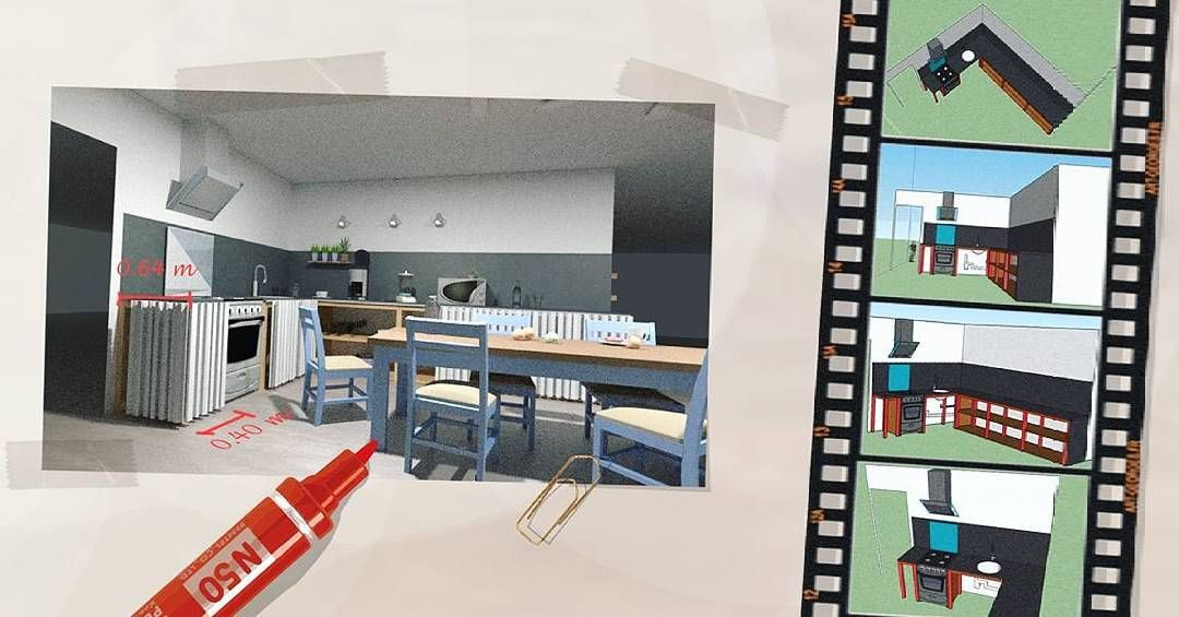 Panneau 3 #perspective #perspectiviste #landscaper - dessiner une maison en 3d