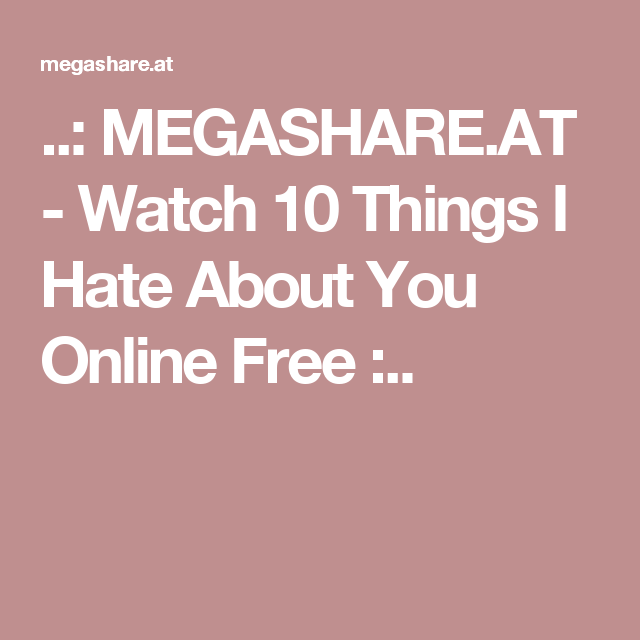 watch 10 things i hate about you online free with subtitles
