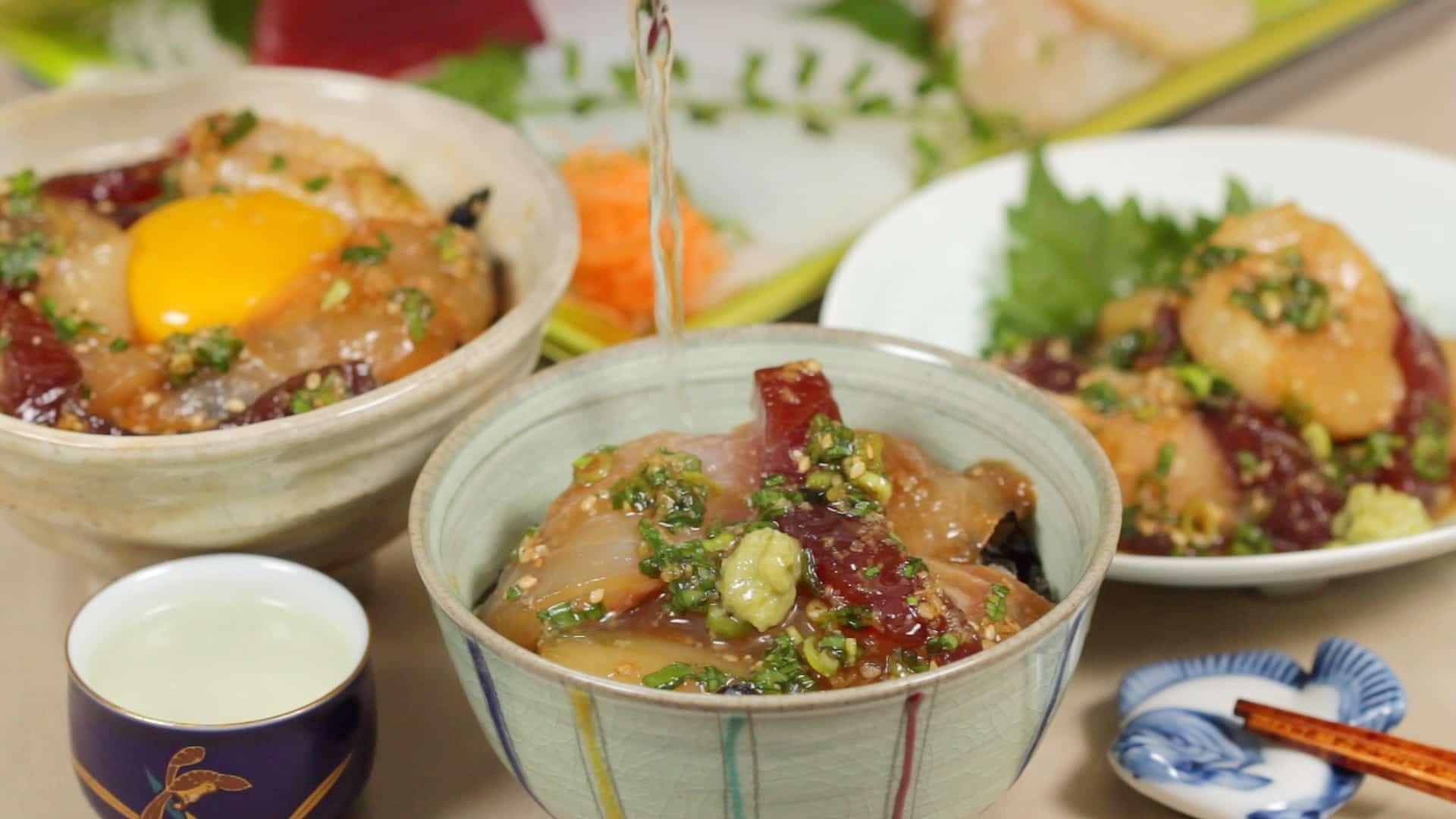 Ryukyu Recipe 3 Ways To Enjoy Marinated Sashimi Cooking With Dog Recipe In 2020 Recipes Sashimi Fine Dining Recipes