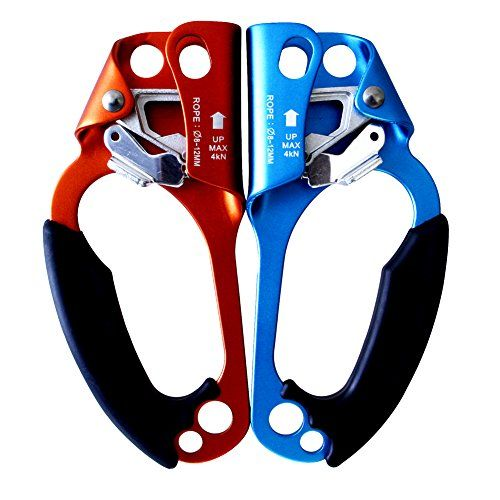 Gm Climbing Hand Ascender For Rope Climbing Pack Of 2 Left And Right Shopswell Rappelling Gear Arborist Rappelling