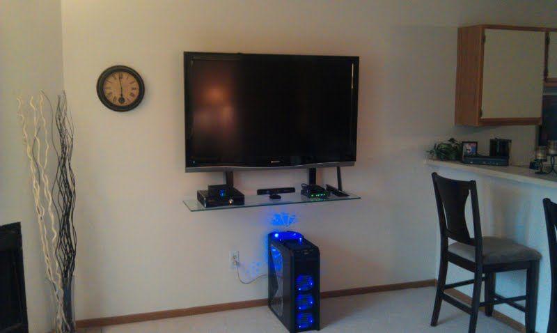Flat Screen Tv Floating Tv Shelf Wall Mounted Tv Wall Mount