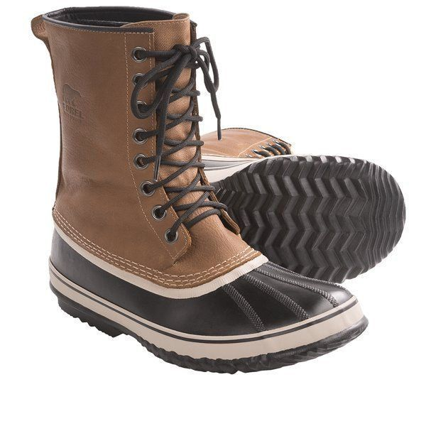New Sorel Buff Leather 1964 Premium T Pac Boots Waterproof Insulated Mens sz 11