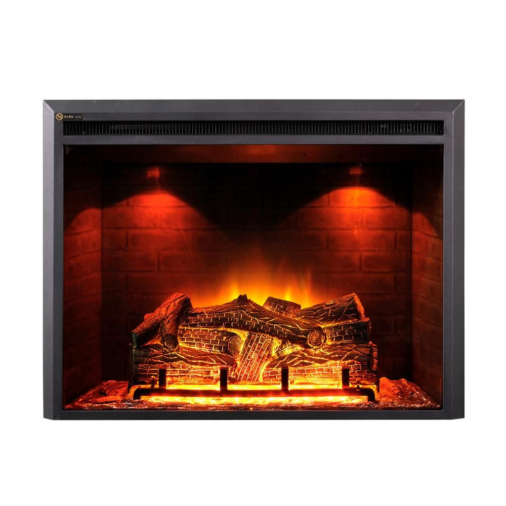 Dynasty Fireplaces 35 In Led Electric Fireplace Insert In Black