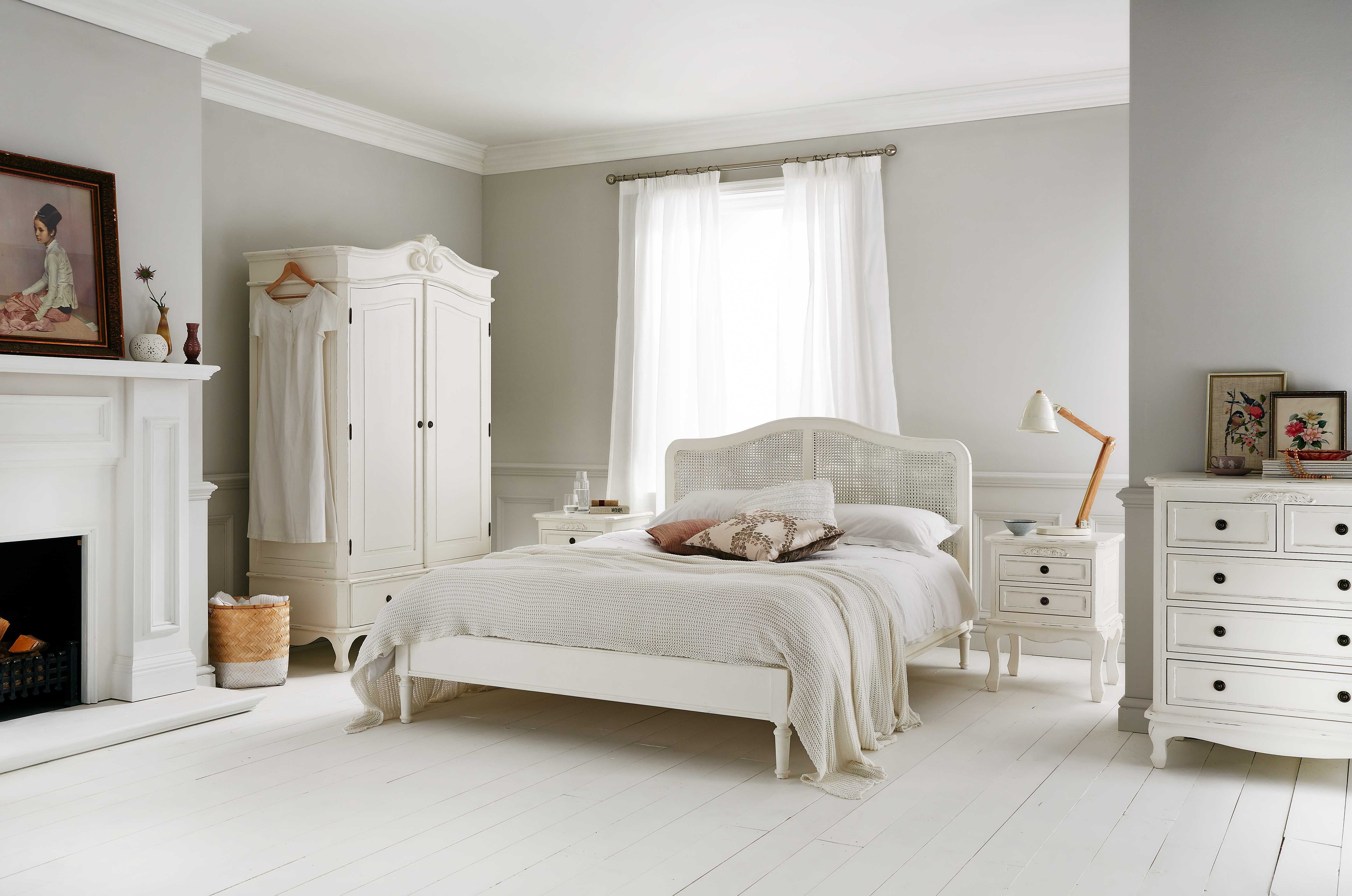 Liberty Rattan Wooden Bed Frame - Painted Wood - Wooden Beds - Beds ...